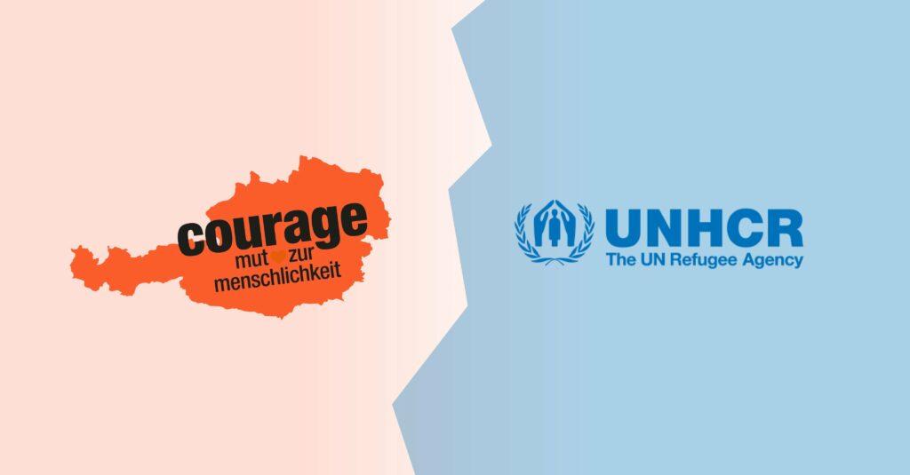 Foto: courage.jetzt; unhcr.org