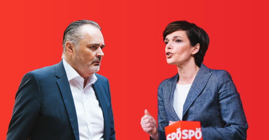 Ist auch LH Doskozil für Einbürgerungen wie Rendi-Wagner? Fotos: Florian Schrötter; Grafik: Zur Sache