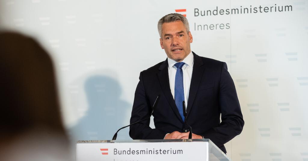 Innenminister Karl Nehammer Foto: BKA/ Christopher Dunker