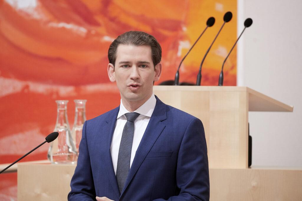 Sebastian Kurz im Parlament; Foto: Parlamentsdirektion / Thomas Topf