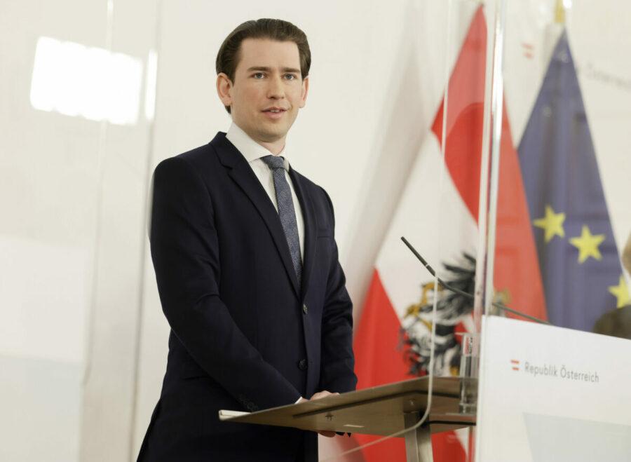 Bundeskanzler Sebastian Kurz bei der Vorstellung des Recovery Fund für Österreich; Foto: BKA / Andy Wenzel