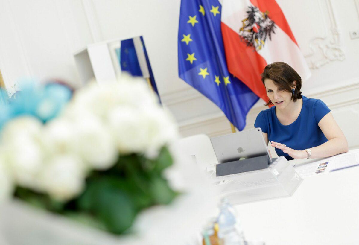 Karoline Edtstadler verhandelte über Projekte für den Recovery Funds. Foto: BKA / Andy Wenzel