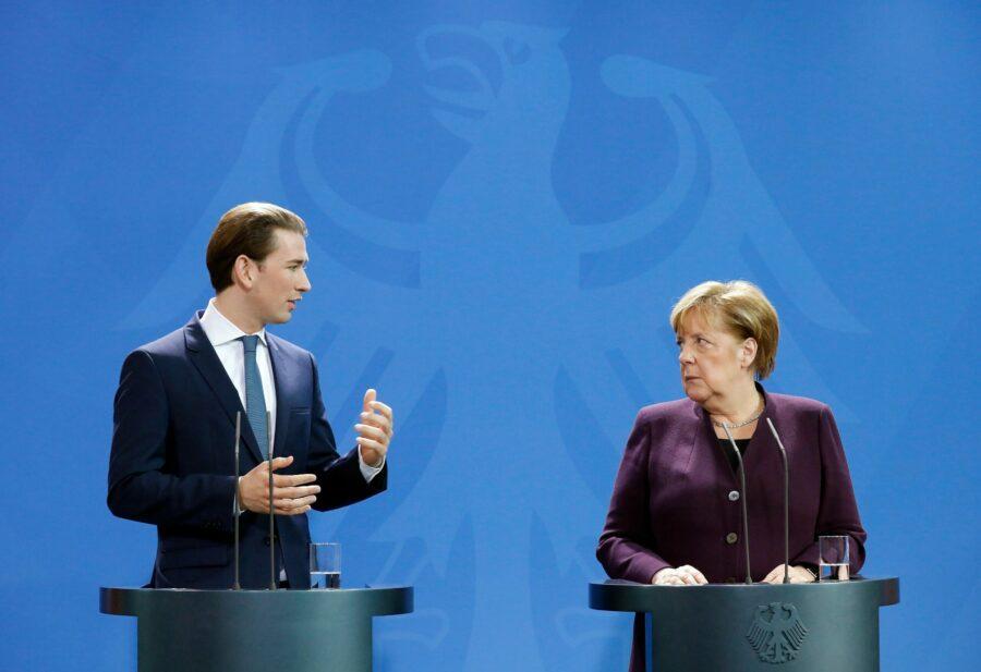 Sebastian Kurz und Angela Merkel; Foto: BKA/ Dragan Tatic
