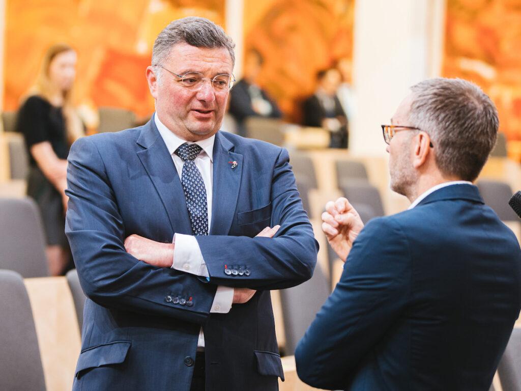 Jörg Leichtfried (SPÖ) und Herbert Kickl (FPÖ); Foto: Florian Schrötter