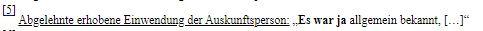 """Endnote, die die NEOS in ihrer Darstellung """"vergessen"""" haben. Faksimile aus dem auf der Parlamentswebsite abrufbaren Protokoll zur Befragung von Sebastian Kurz am 24. Juni 2020"""