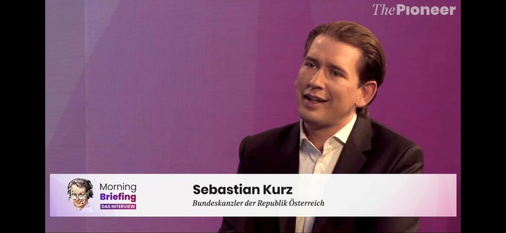 Sebastian Kurz im Interview; Screenshot: The Pioneer