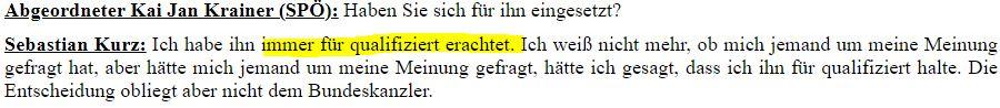 """Kurz hat Schmid """"Immer für qualifiziert"""" gehalten."""