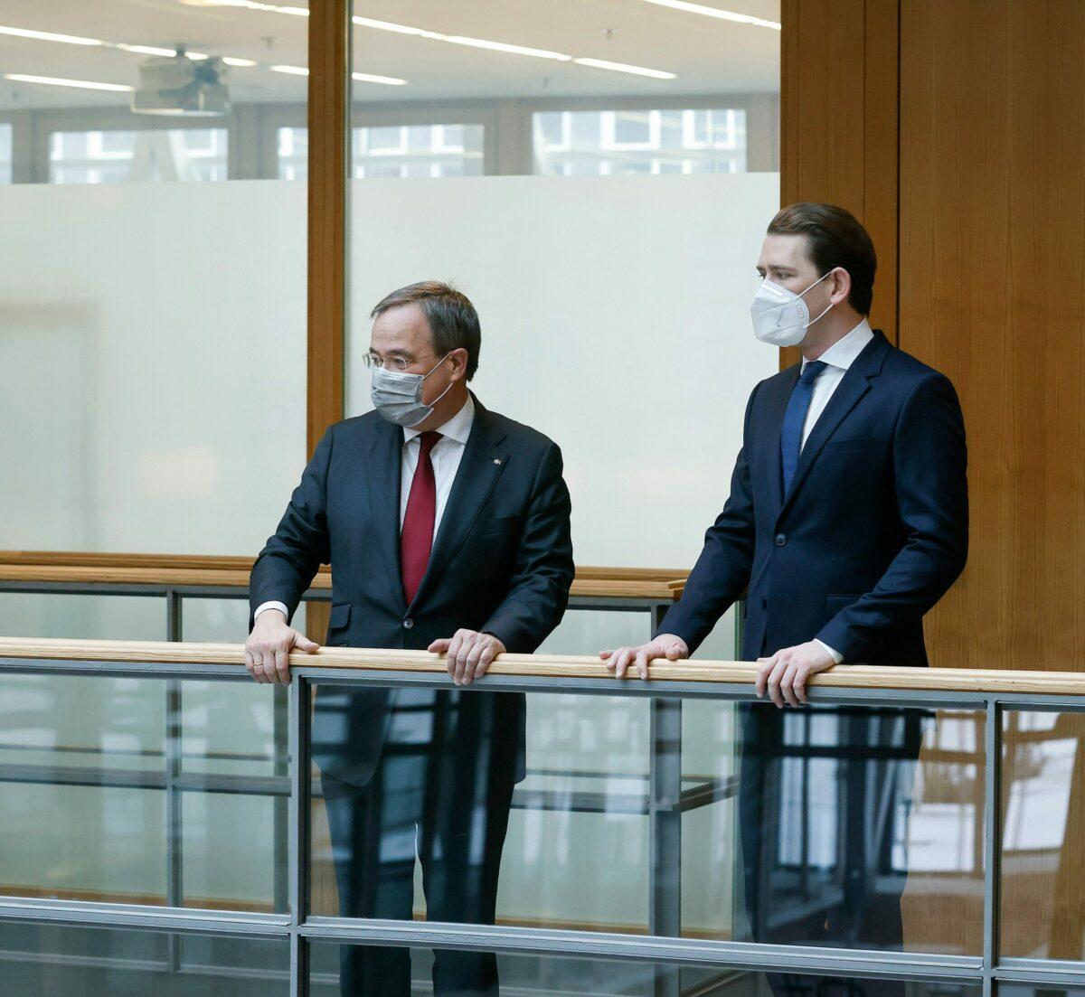 Möglicher CDU-Kandidat für die Bundestagswahl Armin Laschet mit Sebastian Kurz in Berlin. Foto: BKA/ Dragan Tatic