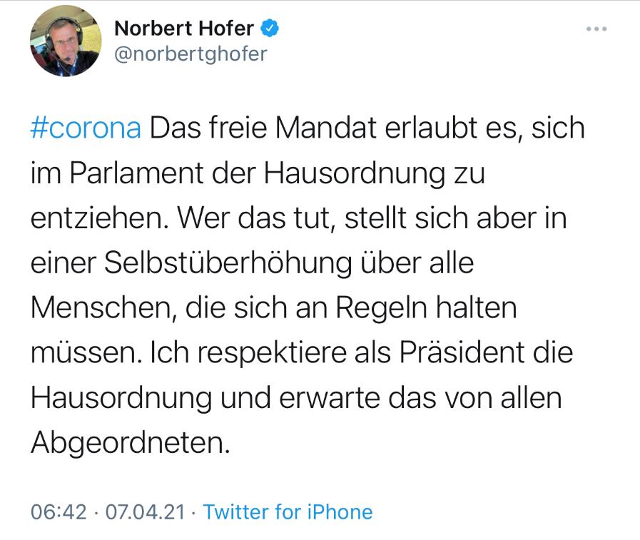 Screenshot: Twitter; norbertghofer
