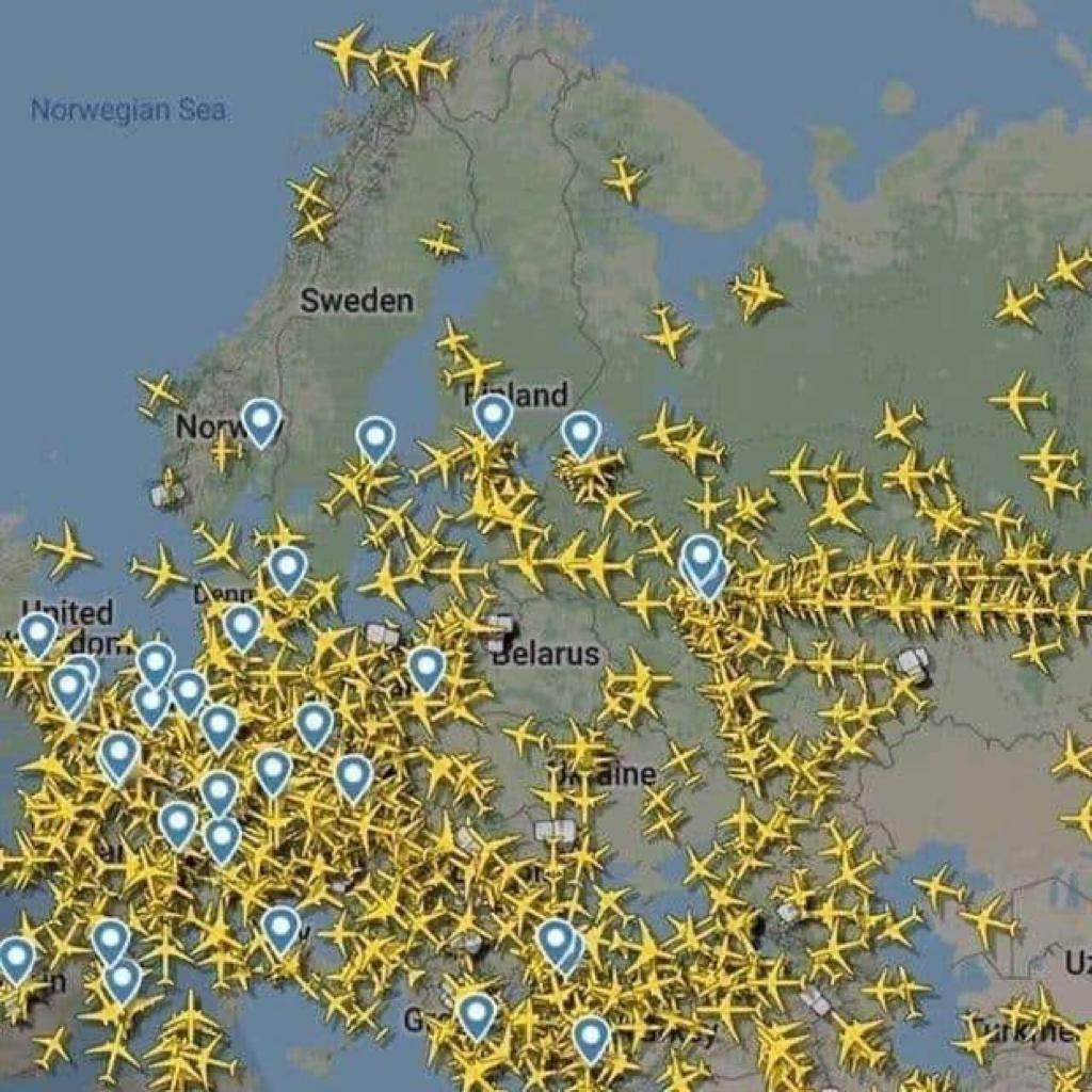 Keine Passagierflieger mehr über Belarus. Twitter, @eucopresident