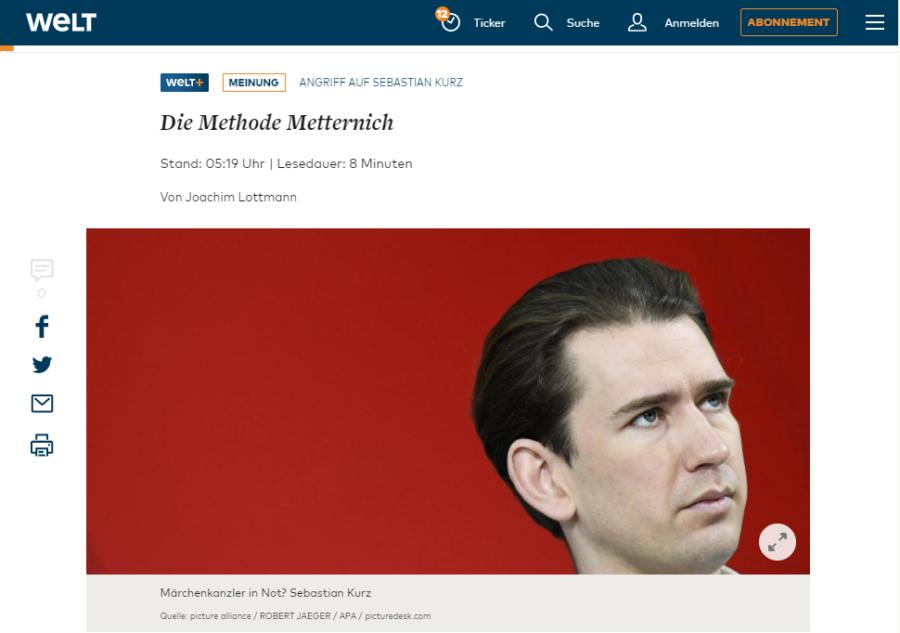 Kritik am Ausschuss auf Welt.de;Screenshot: www.welt.de