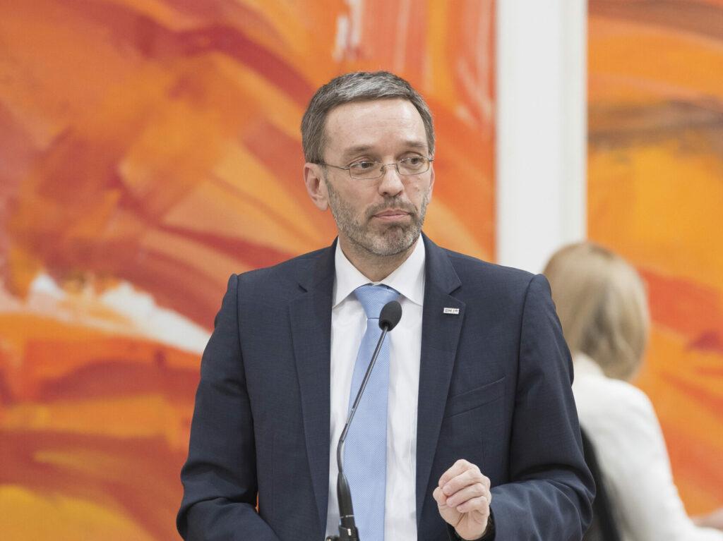 Designierter FPÖ-Obmann Herbert Kickl: Unterstützung für Identitäre? Foto: Parlamentsdirektion / Thomas Jantzen