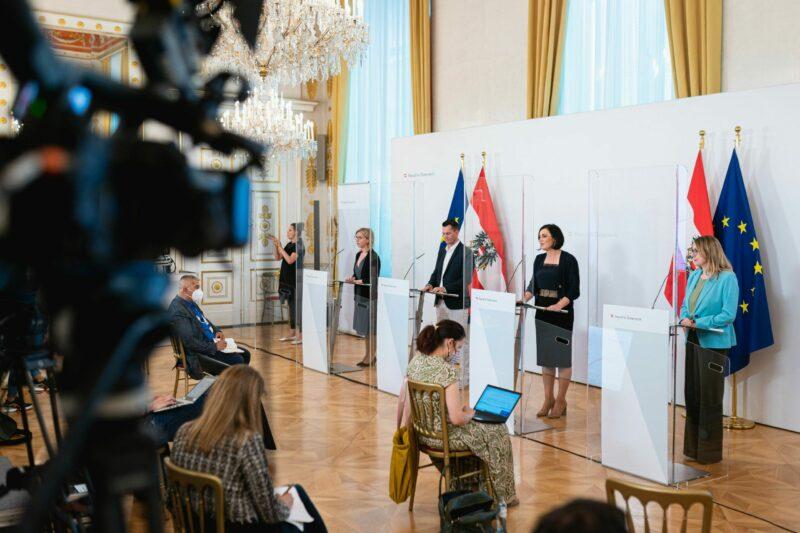 Beim Ministerrat am Mittwoch wurden Bestrebungen gegen Lebensmittelverschwendung vorgestellt. Foto: BKA/ Florian Schrötter