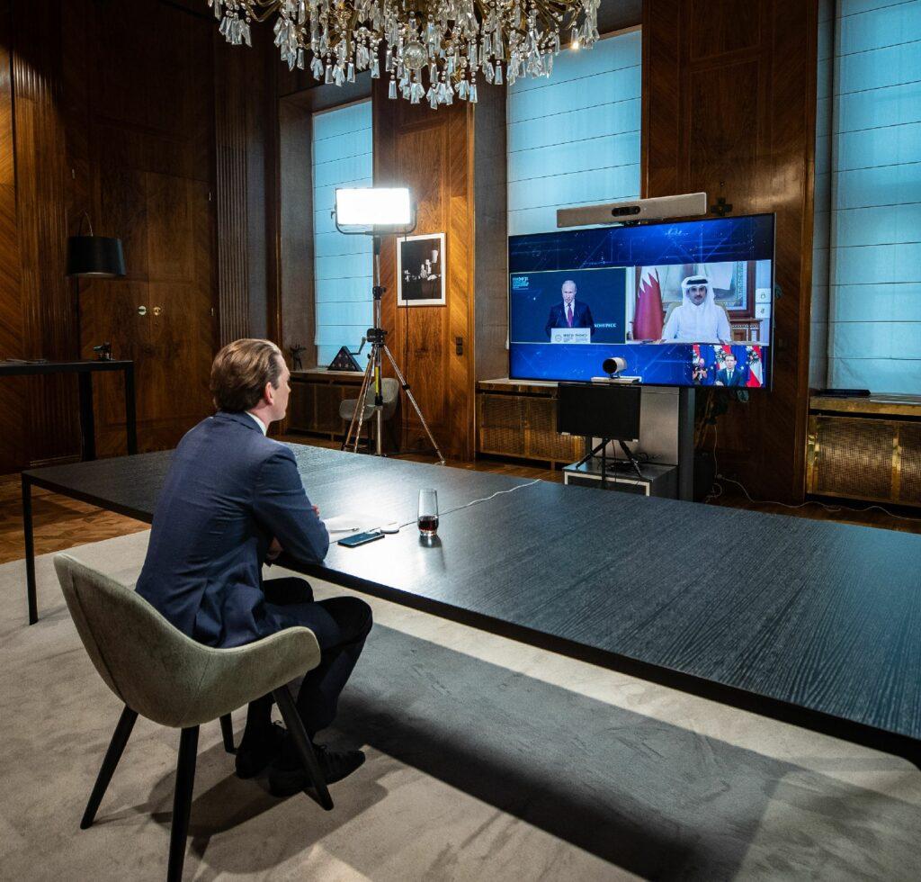 Bundeskanzler Sebastian Kurz beim St. Petersburger Wirtschaftsforum; Foto: Arno Melicharek