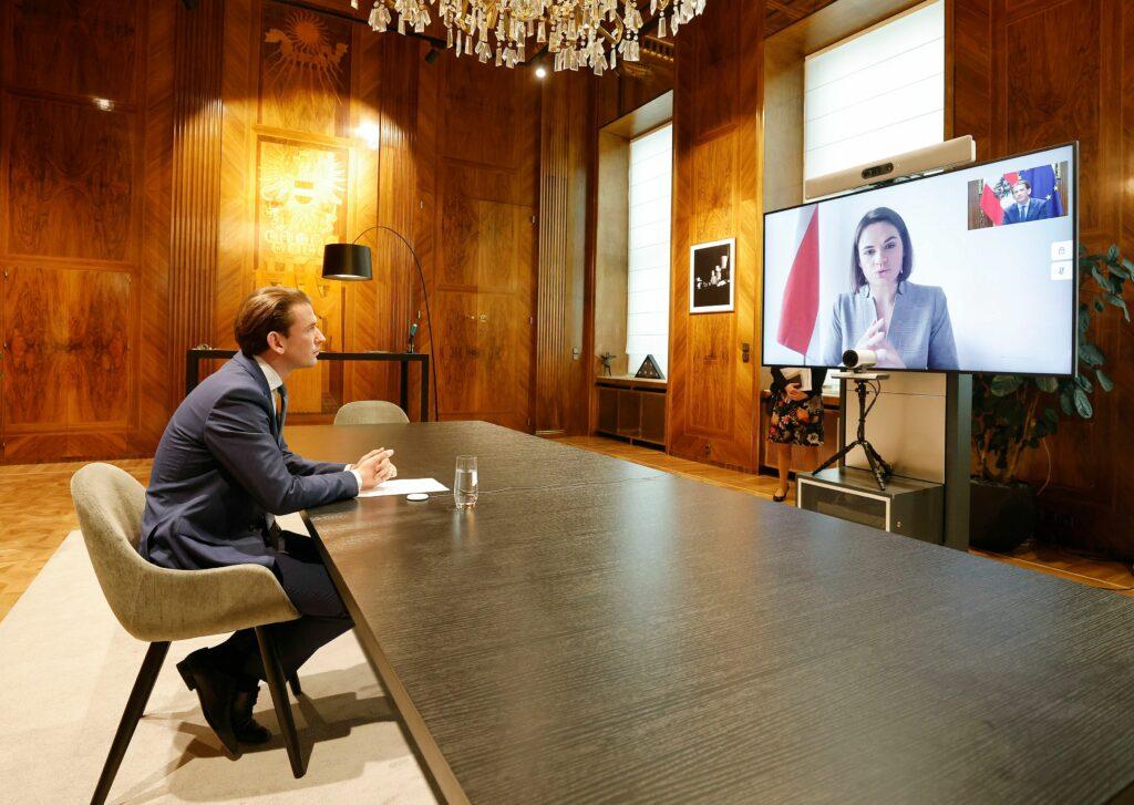 Sebastian Kurz sprach mit der belarussischen Oppositionsführerin Tichanowskaja. Foto: BKA/ Dragan Tatic