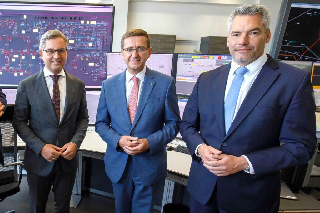 v.l.: Brunner, Achleitner, Nehammer; Foto: Hermann Walkobinger/Land OÖ