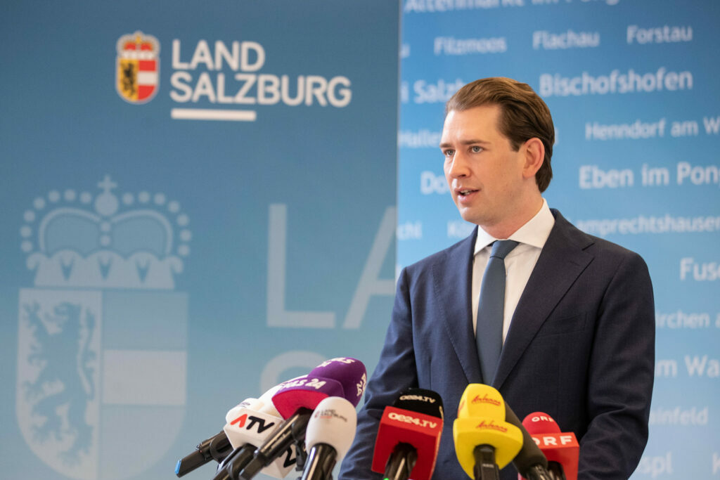 Bundeskanzler Sebastian Kurz in Salzburg/Foto: Arno Melicharek