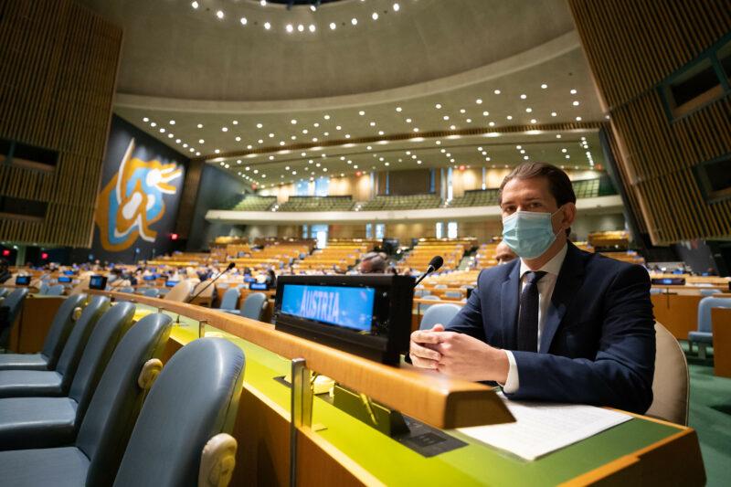 Sebastian Kurz beim Wirtschafts- und Sozialrat der UNO. Foto: Arno Melicharek