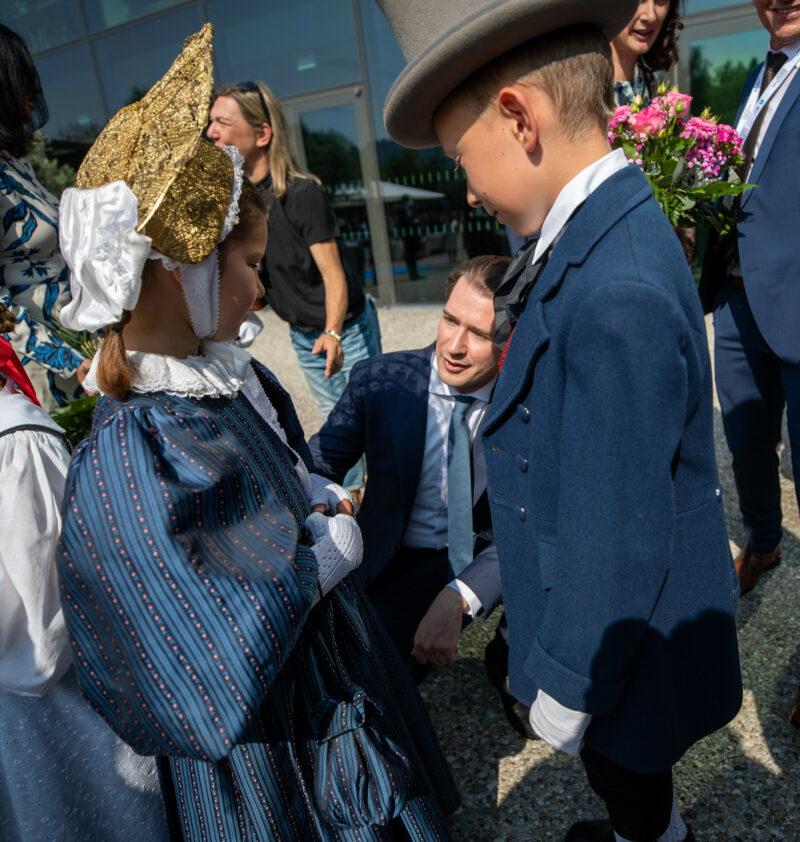 Sebastian Kurz bei der Eröffnung der Bregenzer Festspiele. Foto: Arno Melicharek
