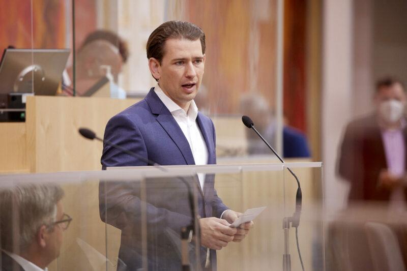 Kanzler Sebastian Kurz zeichnete am Mittwoch im Parlament eine positive Entwicklung am Arbeitsmarkt vor; Foto: Parlamentsdirektion / Thomas Topf