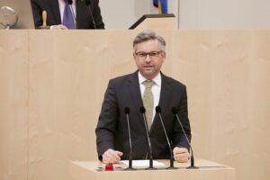 Staatssekretär Magnus Brunner - © Parlamentsdirektion / Thomas Topf