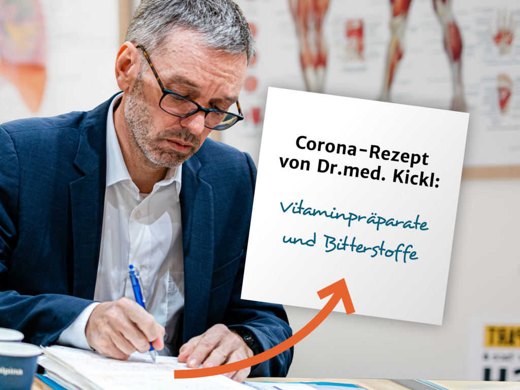Herbert Kickl will auf Vitaminpräparate statt auf die Corona-Impfung setzen. - Fotos: Florian Schrötter; iStock.com/Anchiy