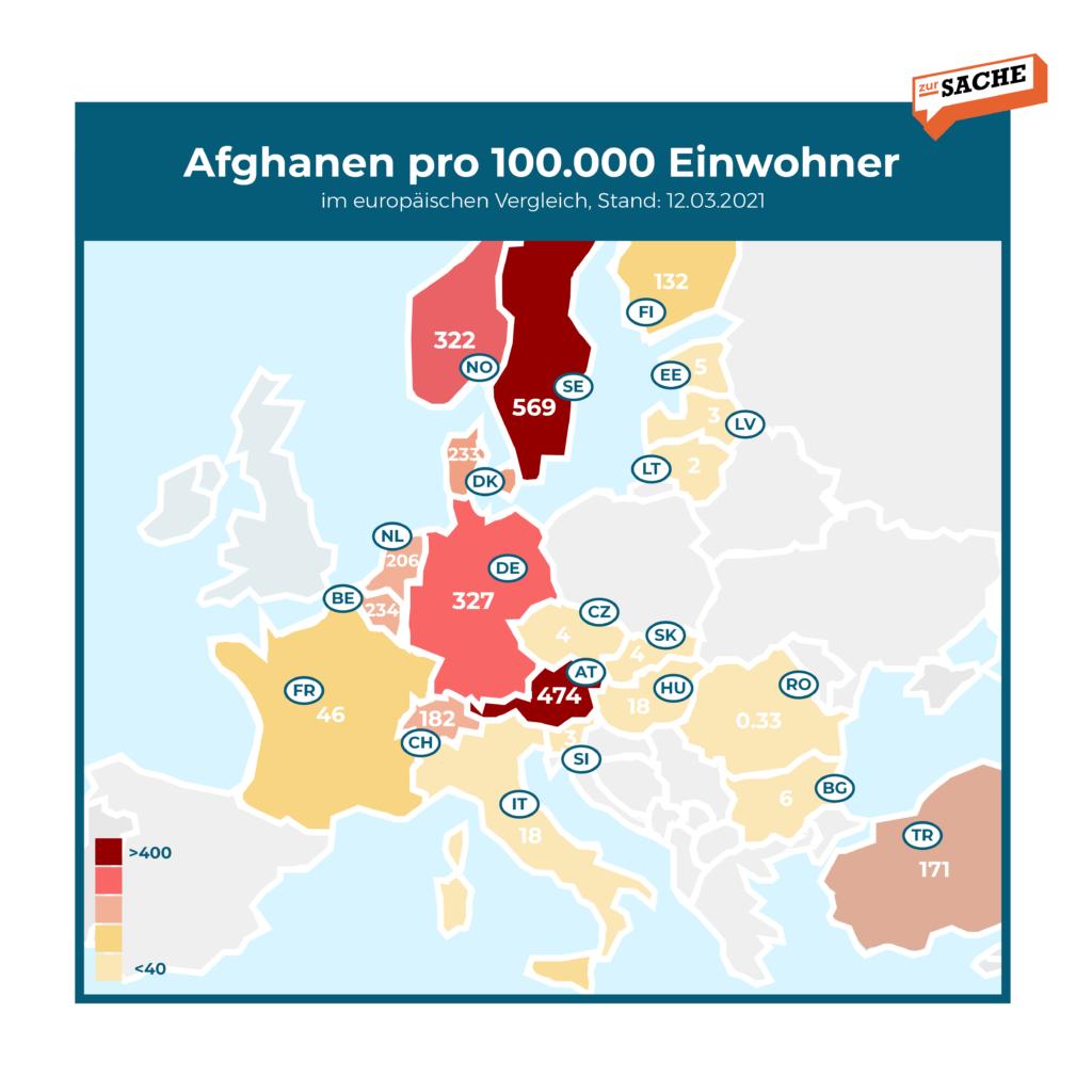 Afghanen pro 100.000 Einwohner - Grafik: Zur-Sache/Daten: BMI