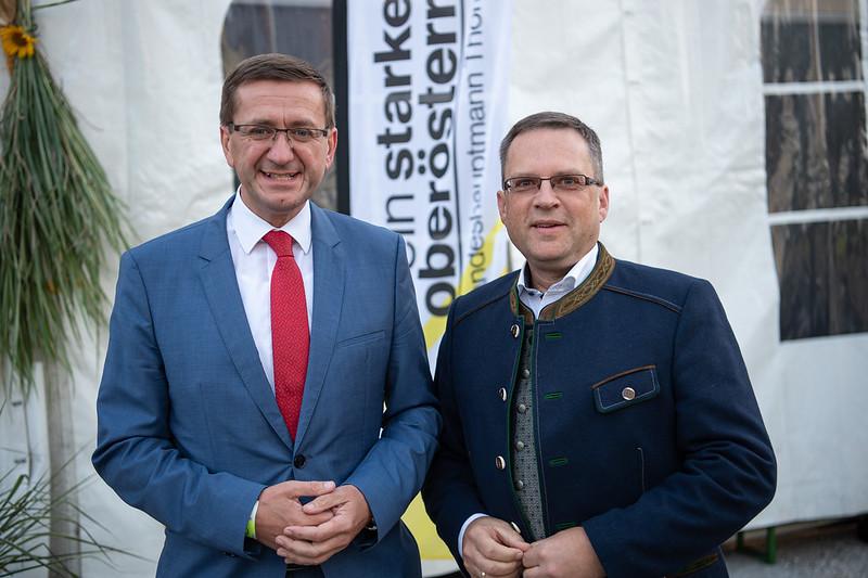 Klubobmann August Wöginger in Wolfern - Foto: OÖVP