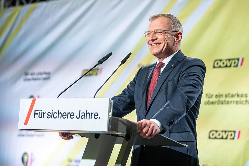Thomas Stelzer appellierte an seine Unterstützter noch einmal alles zu geben in den letzten 48 Stunden vor der Landtagswahl - Foto: OÖVP