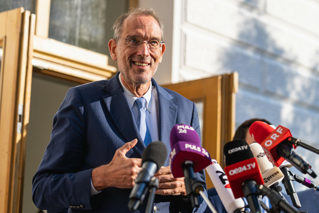 Bildungsminister Heinz Faßmann beim Schulstart an einer Wiener VS. - Foto: BKA/Florian Schrötter