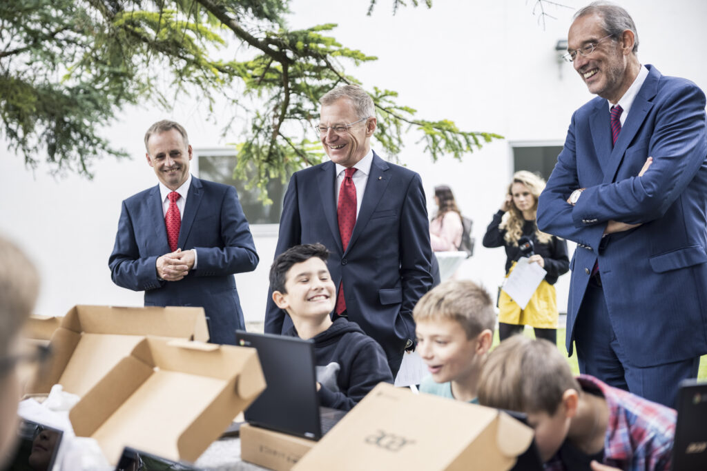 Landeshauptmann Thomas Stelzer & Bildungsminister Heinz Faßmann in Linz - Foto: Fotohinweis: Max Mayrhofer/Land OÖ