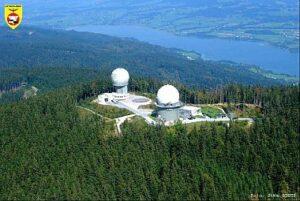Luftraumüberwachung: Radar am Kolomansberg über dem Irrsee; Foto: Bundesheer