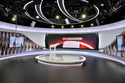 Das ORF-WM-Studio für Sport-Sendungen; Foto: ORF