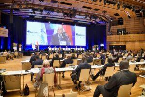 Internationale Konferenz der ParlamentspräsidentInnen in Wien - trotz Corona, daher unter Corona-Regeln. Foto © Parlamentsdirektion/Johannes Zinner