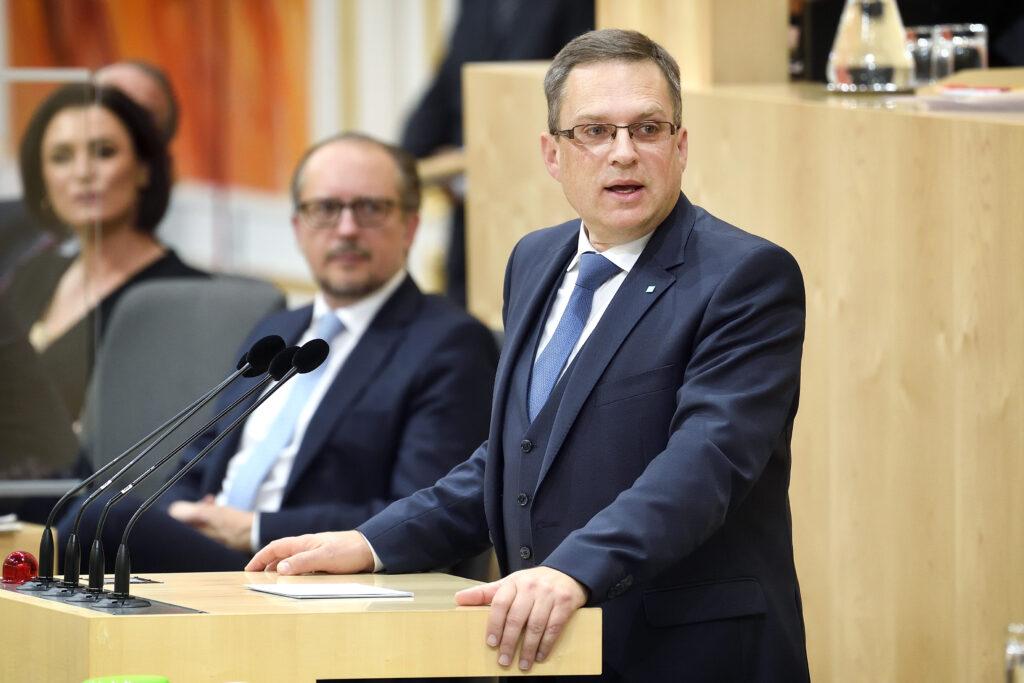 Klubobmann August Wöginger: Wir wollen arbeiten. Foto: Parlamentsdirektion, Johannes Zinner