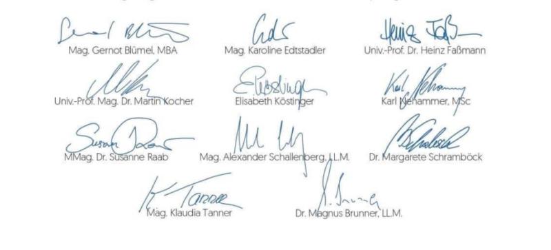 Alle ÖVP-Minister stärken Bundeskanzler Kurz den Rücken - die Unterschriften bestätigen das