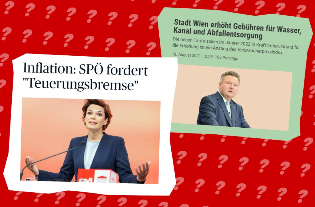 Screenshots: diepresse.com / standard.at; Grafik: Zur-Sache